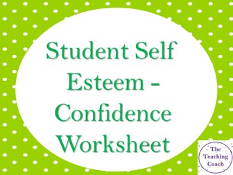 Self Esteem Check In Board Worksheet - Confidence Positivity Wellbeing - Pastoral Support COVID