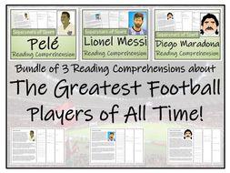 UKS2 Literacy  - Greatest Footballers Bundle of Reading Comprehensions