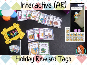 Interactive Special Holidays Reward Tags (Brag Tags)