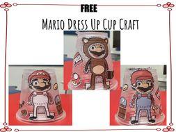Mario Dress Up Cup Craft