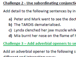 improve sentences with coordinating and subordinating conjunctions