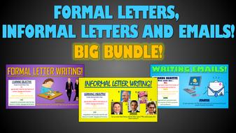 Formal Letters, Informal Letters and Emails - Big Bundle!