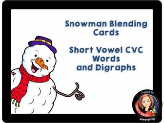 Short Vowel CVC Blending Phonics Practice Cards