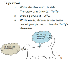 Diary of a Killer Cat by Anne Fine - Guided reading booklet