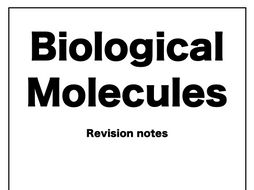 Biological Molecules AQA A-Level Biology Notes by
