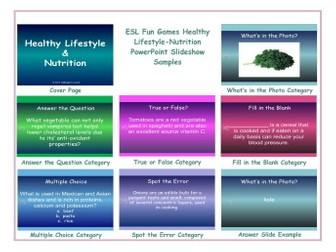 Healthy Lifestyle-Nutrition PowerPoint Slideshow