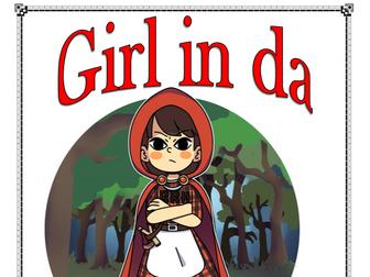 Girl in da hoodie - A modern comic take on a traditional tale.