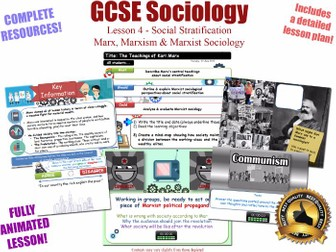 Marx, Marxism, & Marxist Sociology- Social Stratification -L4/20 [ AQA GCSE Sociology - 8192]