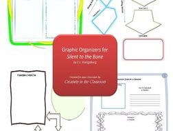 Graphic Organizers Plus Crossword Puzzles  for Silent to the Bone