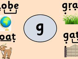 Alternative pronunciation - g grapheme