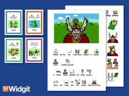 The Anglo Saxons Bundle - History Books and Activities with Widgit Symbols