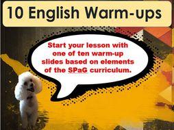 English Warmup Multi-pack (10 Daily Tasks) KS2