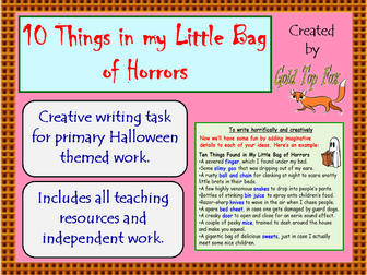 10 Things In My Little Bag Of Horrors (Halloween Creative Writing)