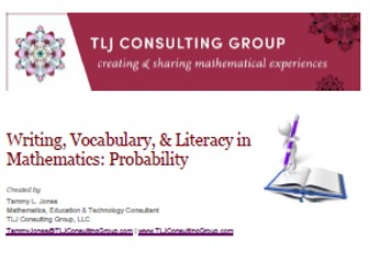 Writing, Vocabulary & Literacy in Mathematics: Probability