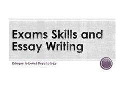 WJEC Eduqas A-Level Psychology Exam technique Bundle