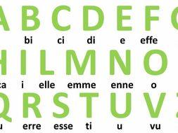 l alfabeto italiano by giulysan teaching resources tes