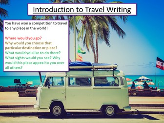 Travel Writing - Introduction