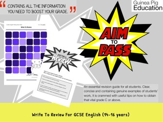 Write To Review (GCSE English Writing Work Pack) (ages 14-16 years)