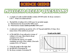 RADIATION - NUCLEAR DECAY QUESTIONS!