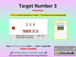 Target Number 3 PowerPoint (+ FREE A REAL MYSTERIES PROJECT: THE MYSTERIOUS PHOTOGRAPH)