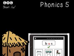 CVC Short U - Digital Center - Picture Match - Phonics (Google Classroom)