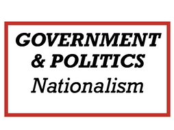 Politics Edexcel - Nationalism