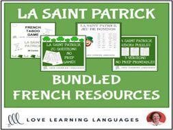La Saint Patrick - Bundled French Resources