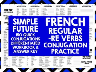 FRENCH -RE VERBS SIMPLE FUTURE TENSE