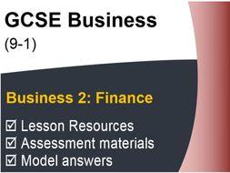GCSE Business (9-1) OCR - Finance - Assessment & Revision resource pack