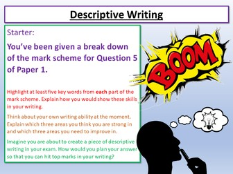 Descriptive Writing Introduction