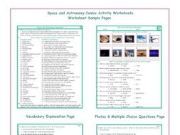 Space and Astronomy Combo Activity Worksheets
