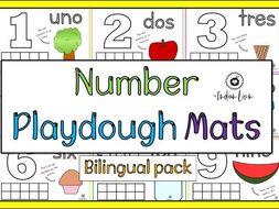 Number Playdough Mat