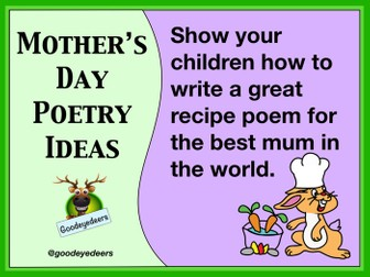 Mother's Day Poetry  Lesson - A Recipe Poem