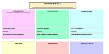 Storyboard Template For Video Story By Zuraiyni Teaching Resources