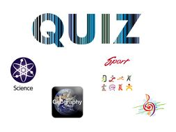 General trivia quizzes for form time / tutor group / assembly