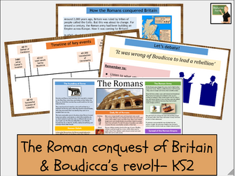 History- The Romans- Roman Britain invasion and revolt of Boudicca