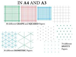 GRAPH paper, SQUARED paper, ISOMETRIC paper and SPOTTY paper *A4* and ***A3*** (180 variations)