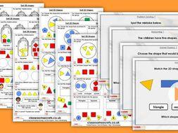 Year 1 Sort 2D Shapes Autumn Block 3 Step 4 Maths Lesson Pack