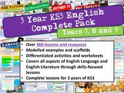 English KS3 3 Year Complete