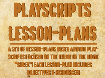 Play-scripts Lesson Plans
