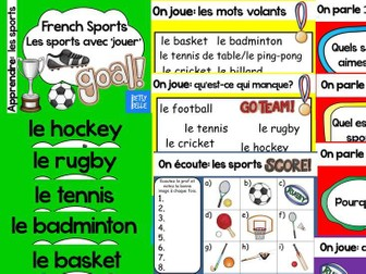 French Presentation and Games: Sports 'jouer'