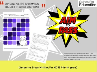 Discursive Essay Writing For GCSE Creative Writing (GCSE English Writing Work Pack)
