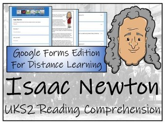 UKS2 Isaac Newton Reading Comprehension & Distance Learning Activity
