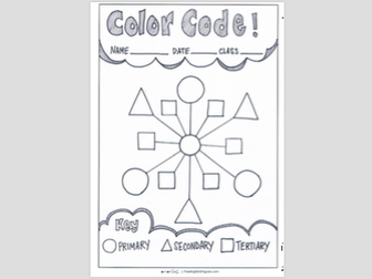 'Colouring with Shapes'   Learning the Colour Wheel