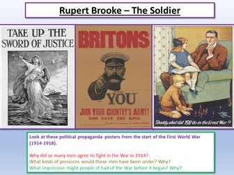 War Poetry The Soldier
