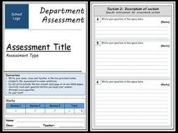 Assessment Template