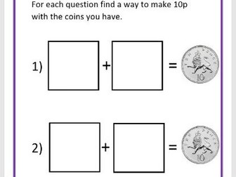 Finding Equivalent Values to 10p