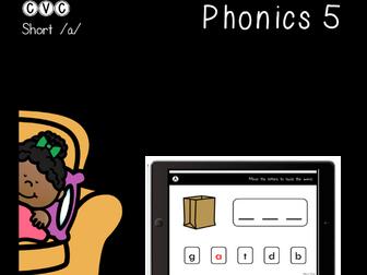 CVC Short A - Digital Center - Word Builder - Phonics (Google Classroom)