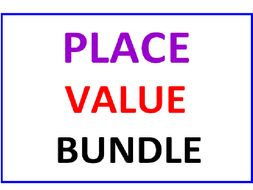 Place Value Bundle (4 Worksheets)