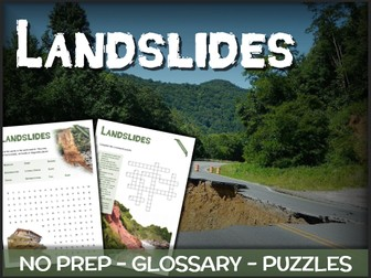 Landslides - Puzzles & Glossary